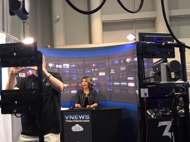 VNEWS production system operated by one person.