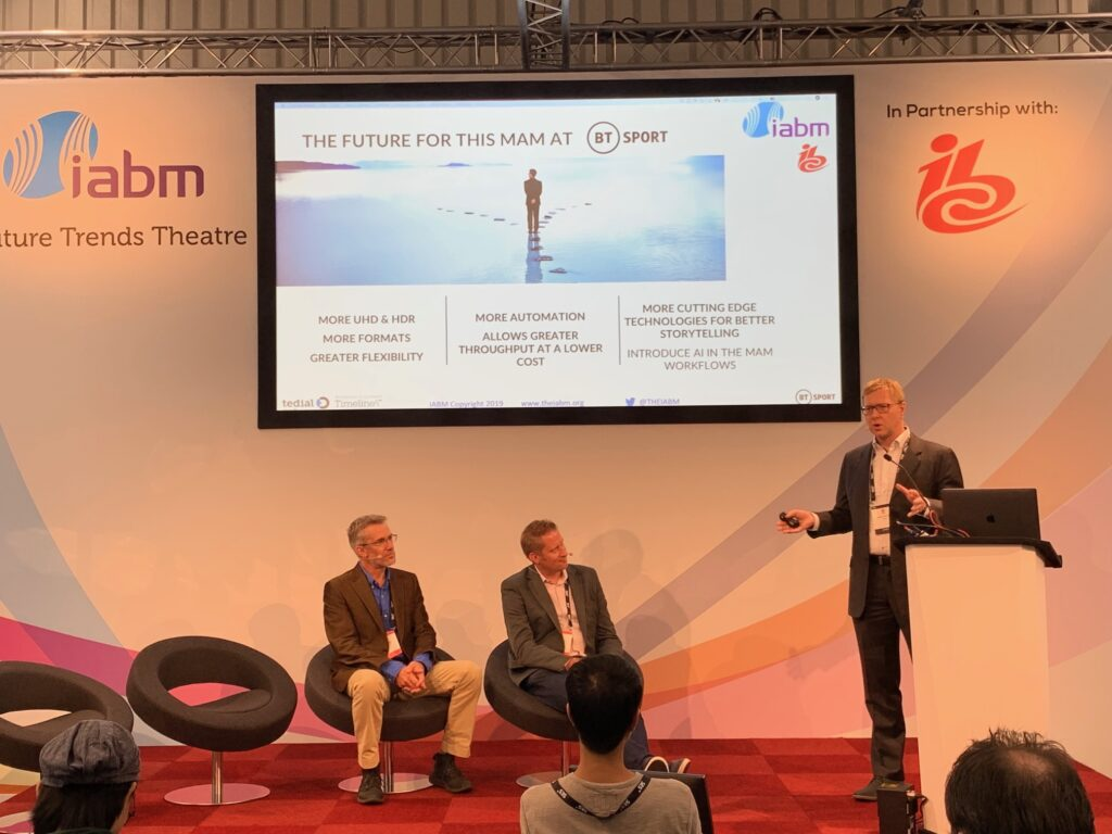 Tedial's Jerome Wauthoz speaks at Future Trends Theatre.