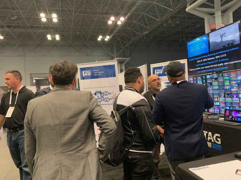 Always busy at TAG NAB NY 2019