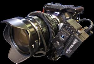 RUSHWORKS BABYZOOMER Servo Lens Kit on Blackmagic Micro Studio Camera 4K small