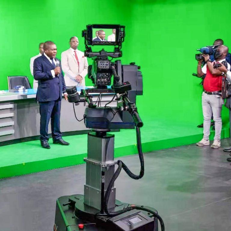 President Filipe Nyusi at TV of Mozambique