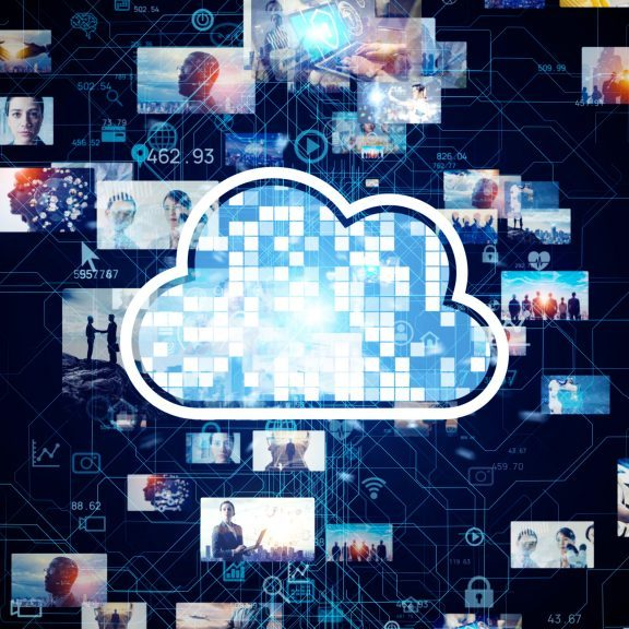 Cloud computing concept. Social networking service. Streaming video. communication network.